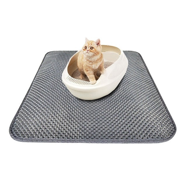 EVA Double-Layer Cat Litter Mat Gray / 45x30cm | CatToyz.com | Shop Cat Toys, Clothes, and Grooming Supplies