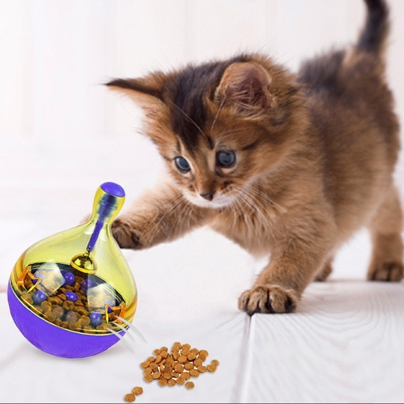 Cat Feeding Tumbler Toys - Food Ball - Mice, Water Droplet, or Bone Shapes  | CatToyz.com | Shop Cat Toys, Clothes, and Grooming Supplies