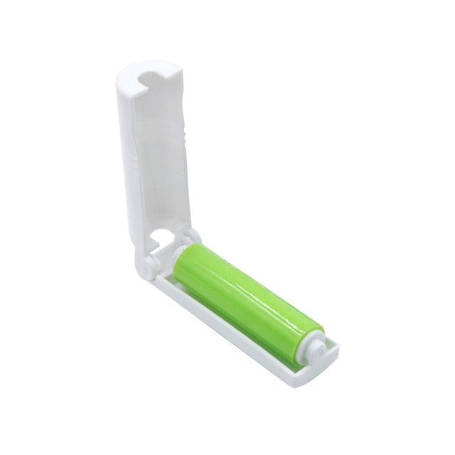 Portable Cat Hair Removal Sticky Roller Light Green | CatToyz.com | Shop Cat Toys, Clothes, and Grooming Supplies