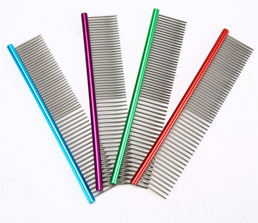 Stainless Steel Comb for Easy Cleaning & Grooming  | CatToyz.com | Shop Cat Toys, Clothes, and Grooming Supplies