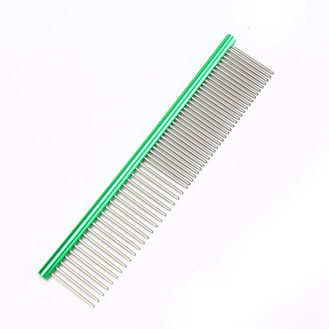 Stainless Steel Comb for Easy Cleaning & Grooming Green / M 19x3.5cm | CatToyz.com | Shop Cat Toys, Clothes, and Grooming Supplies