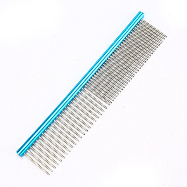Stainless Steel Comb for Easy Cleaning & Grooming Blue / M 19x3.5cm | CatToyz.com | Shop Cat Toys, Clothes, and Grooming Supplies