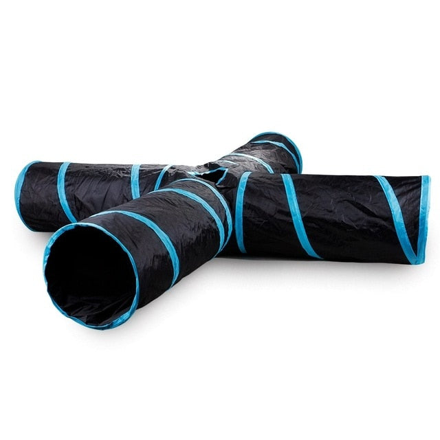 Tunnel Toys for your Cat Blue 4 holes / L | CatToyz.com | Shop Cat Toys, Clothes, and Grooming Supplies