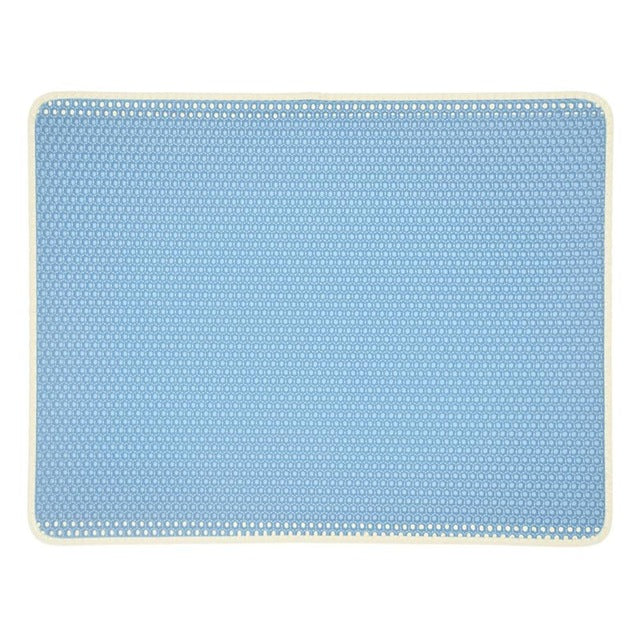 Cat Litter Mat with Honeycomb Design Traps Litter Sky Blue / S 40x50cm | CatToyz.com | Shop Cat Toys, Clothes, and Grooming Supplies