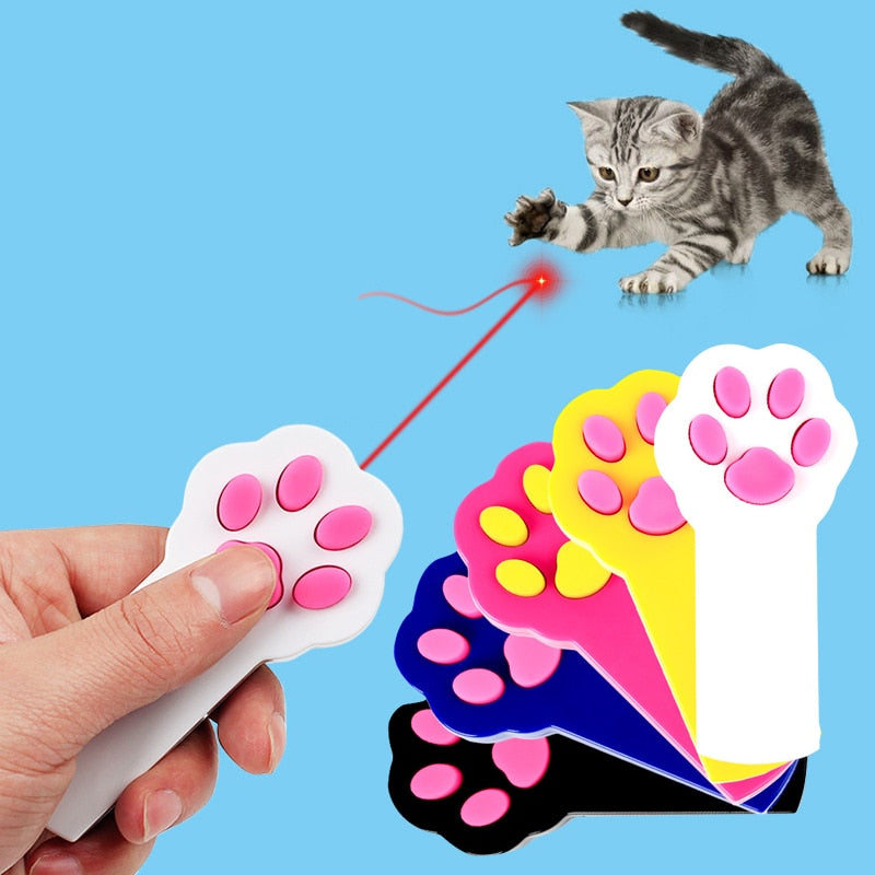 Paw Shaped LED Laser Pointer Toy For Cat Training & Play  | CatToyz.com | Shop Cat Toys, Clothes, and Grooming Supplies