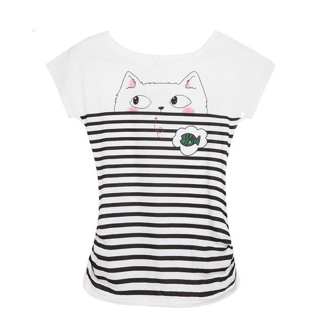 'Let's Go Fishing' Cat T-Shirts 1 / One Size | CatToyz.com | Shop Cat Toys, Clothes, and Grooming Supplies