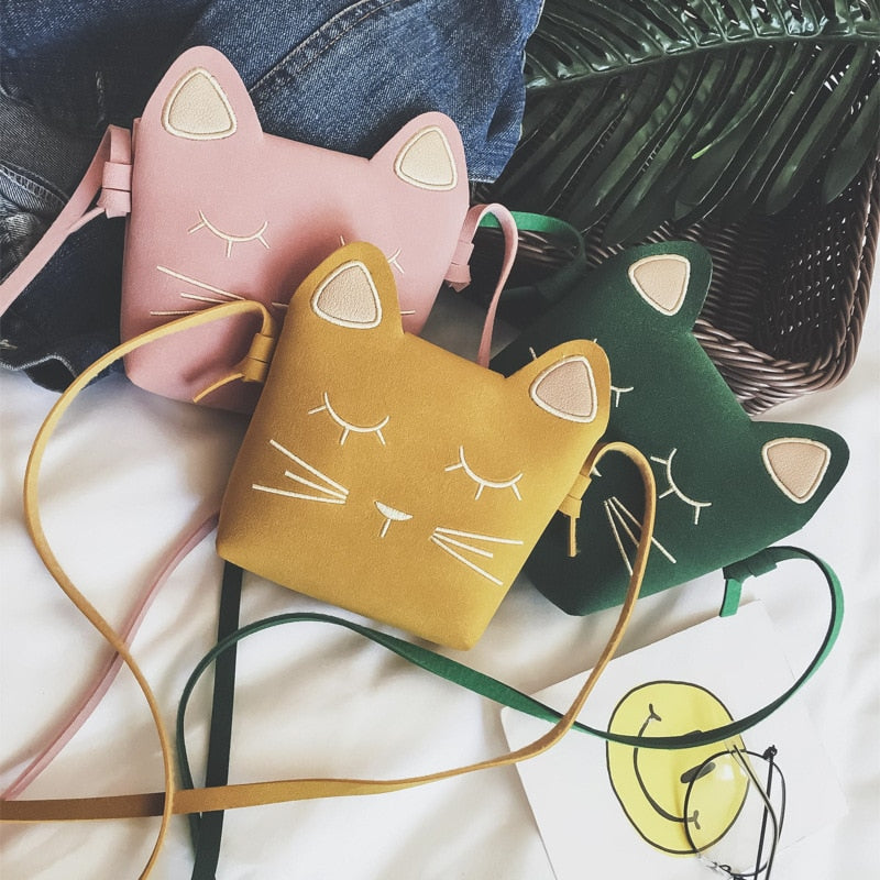 Cute Cat Shoulder Purse For Kids In Several Colors  | CatToyz.com | Shop Cat Toys, Clothes, and Grooming Supplies