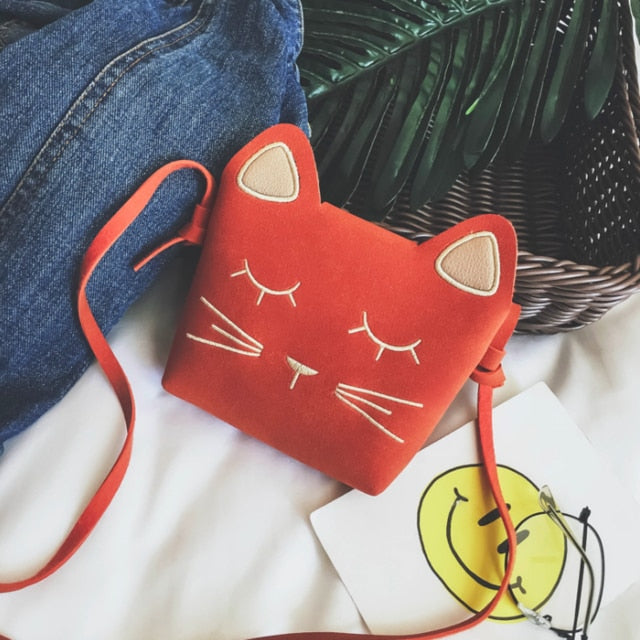 Cute Cat Shoulder Purse For Kids In Several Colors Orange | CatToyz.com | Shop Cat Toys, Clothes, and Grooming Supplies