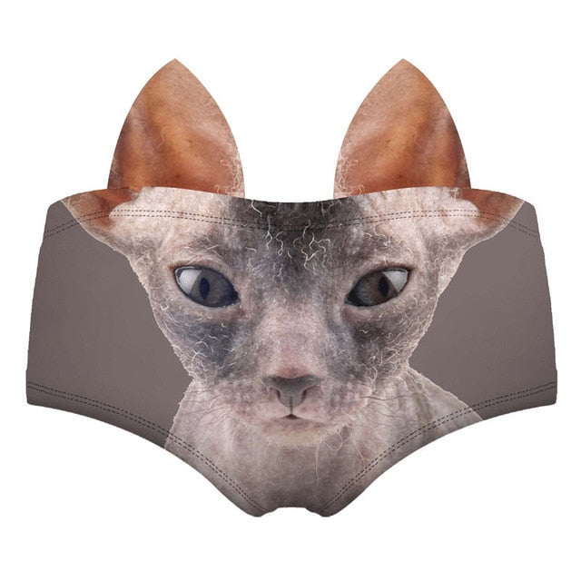 Funny 3D Pattern Women's Underwear Sphinx | CatToyz.com | Shop Cat Toys, Clothes, and Grooming Supplies