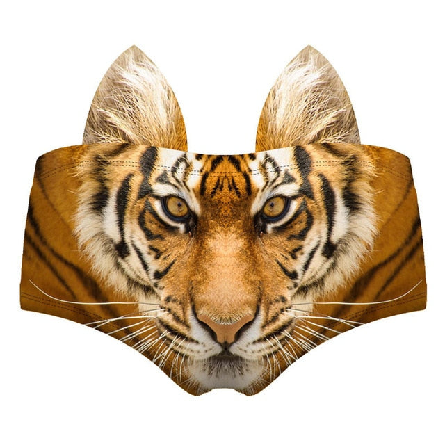Funny 3D Pattern Women's Underwear Tiger | CatToyz.com | Shop Cat Toys, Clothes, and Grooming Supplies