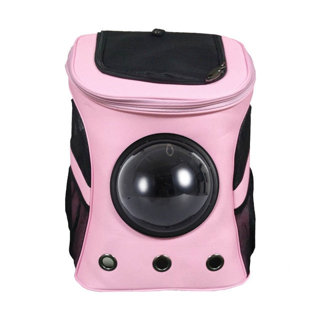 Durable Cat Carrier Backpack Pink / L | CatToyz.com | Shop Cat Toys, Clothes, and Grooming Supplies