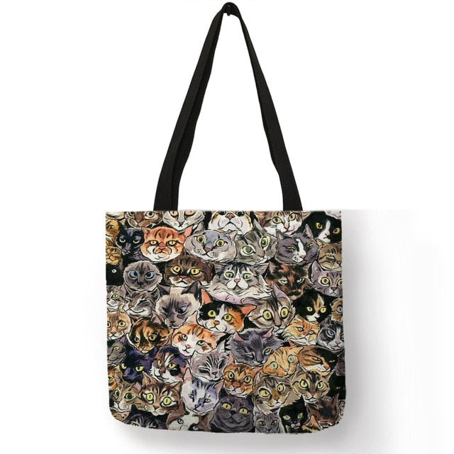 Festive Cat Print Shopping Totes! 001 | CatToyz.com | Shop Cat Toys, Clothes, and Grooming Supplies