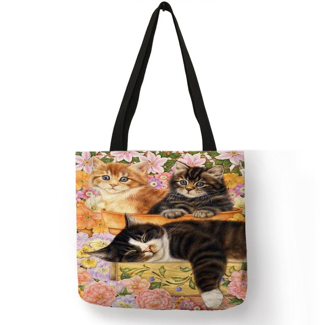 Festive Cat Print Shopping Totes! 003 | CatToyz.com | Shop Cat Toys, Clothes, and Grooming Supplies