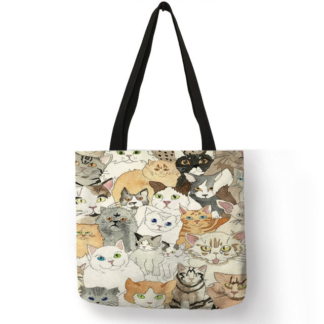 Festive Cat Print Shopping Totes! 004 | CatToyz.com | Shop Cat Toys, Clothes, and Grooming Supplies