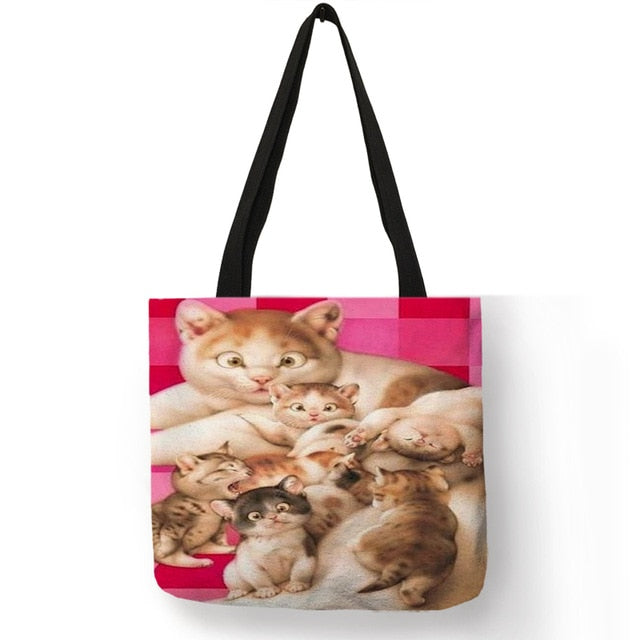 Festive Cat Print Shopping Totes! 005 | CatToyz.com | Shop Cat Toys, Clothes, and Grooming Supplies