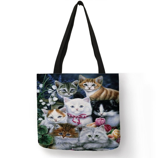 Festive Cat Print Shopping Totes! 006 | CatToyz.com | Shop Cat Toys, Clothes, and Grooming Supplies