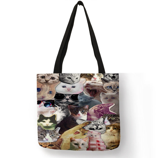 Festive Cat Print Shopping Totes! 008 | CatToyz.com | Shop Cat Toys, Clothes, and Grooming Supplies