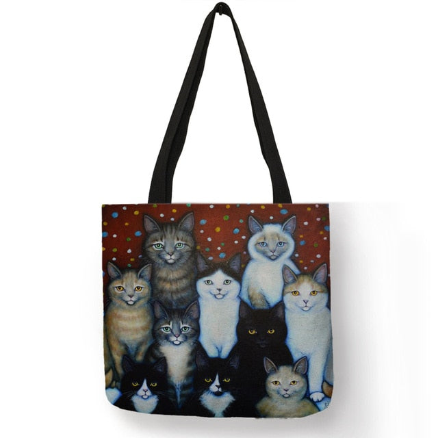 Festive Cat Print Shopping Totes! 009 | CatToyz.com | Shop Cat Toys, Clothes, and Grooming Supplies