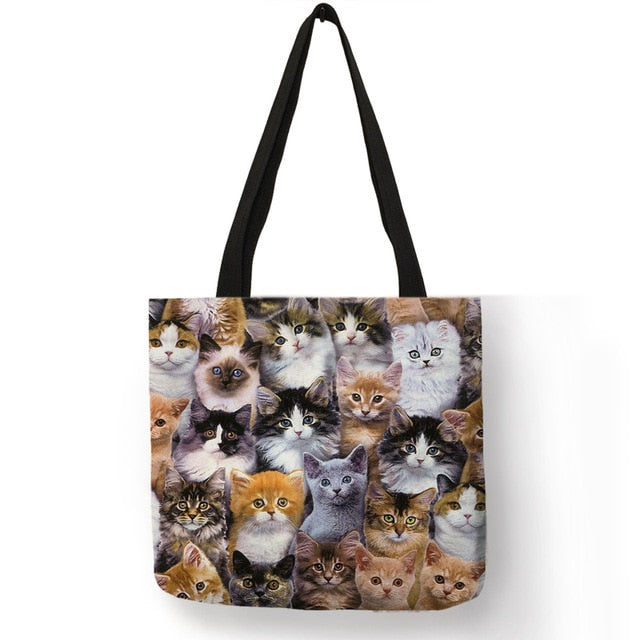 Festive Cat Print Shopping Totes! 010 | CatToyz.com | Shop Cat Toys, Clothes, and Grooming Supplies