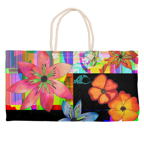 BYM Bag Rope Totes in Disco Fleurs