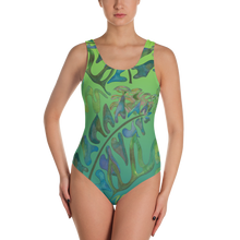 Load image into Gallery viewer, BYM One-Piece Swimsuit in Haiku Hymn
