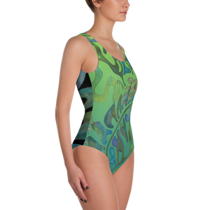 BYM One-Piece Swimsuit in Haiku Hymn