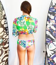 Load image into Gallery viewer, BYM BEACH TWO PIECE RASHGUARD - HIBISCUS BOUQUET-