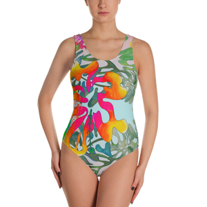BYM One-Piece Swimsuit in Hibiscus Bouquet