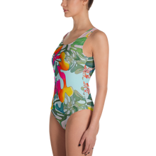 Load image into Gallery viewer, BYM One-Piece Swimsuit in Hibiscus Bouquet