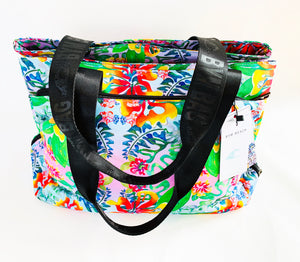 BYM BAG - THE MAUI - IN HIBISCUS BOUQUET -