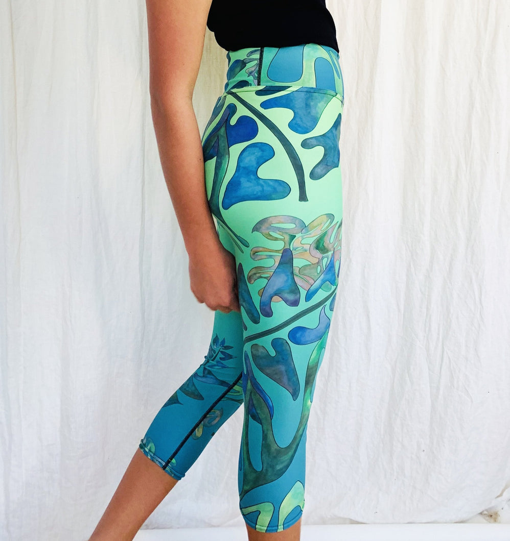 BYM Maui Beach LEGGINGS - UPF 40 (Ultraviolet Protection)
