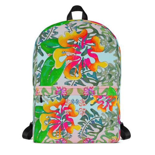 BYM Backpack in Hibiscus Bouquet