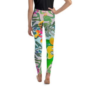 BYM Tween Leggings Hibiscus Bouquet