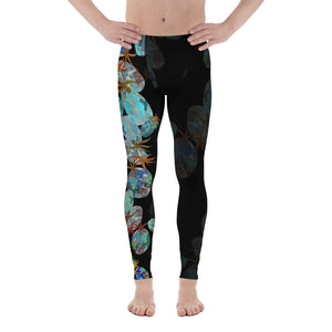 BYM Men's Leggings in Pineapple Hula