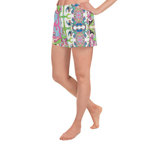 BYM Women's Athletic Short Shorts in Sweet Lane Combo