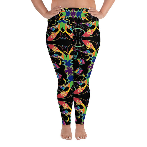 BYM Plus Size Leggings in Candy Factory