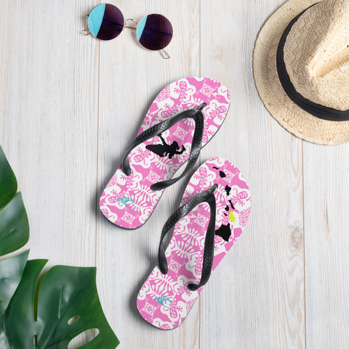 BYM Slippas - Pretty in Pink Island Style