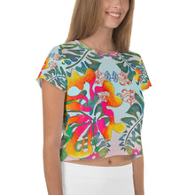 Load image into Gallery viewer, BYM Crop Tee in Hibiscus Bouquet