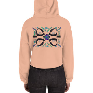 BYM Crop Hoodie in Stones Throw