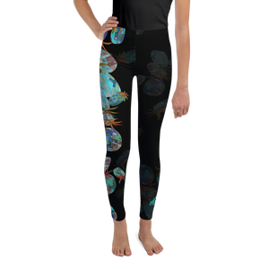 BYM Tween Leggings in Hula Pineapple Noire