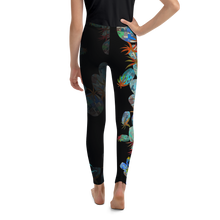 Load image into Gallery viewer, BYM Tween Leggings in Hula Pineapple Noire