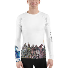 Load image into Gallery viewer, BYM Men's Rash Guard in Bakshi Doodle 2