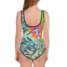 Load image into Gallery viewer, BYM Beach Teen One Piece Bathingsuit in Hibiscus Bouquet