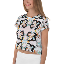 Load image into Gallery viewer, BYM Crop Tee in Jardin de Fleurs