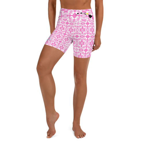 BYM Yoga Sport Shorts in Pretty in Pink