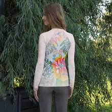 Load image into Gallery viewer, BYM Rash Guard in Hibiscus Bouquet