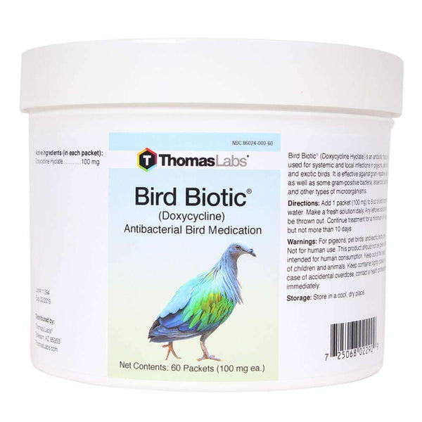 Bird Biotic - Doxycycline 100 mg Powder Packets (60 Count)
