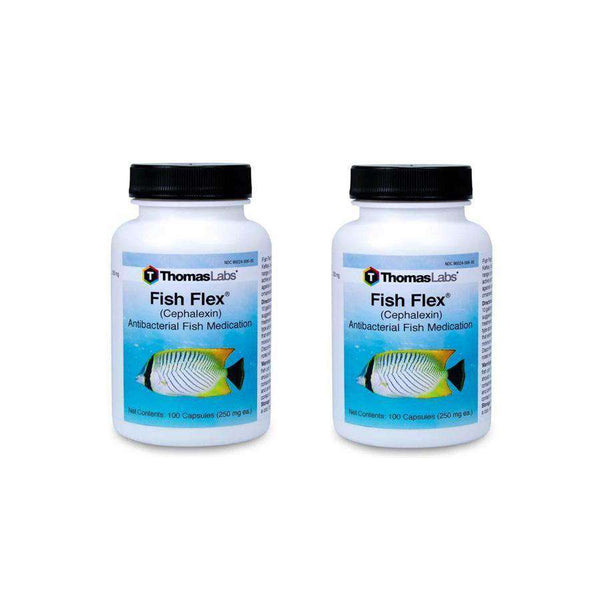 Fish Flex - Cephalexin/Keflex 250 mg Capsules (100 Count) - 2 Pack