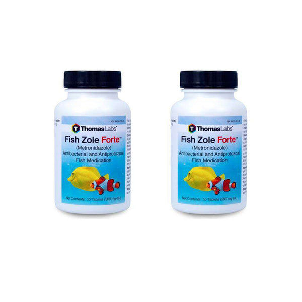 Fish Zole Forte 30 Count - Metronidazole 500 mg Tablets - 2 Pack