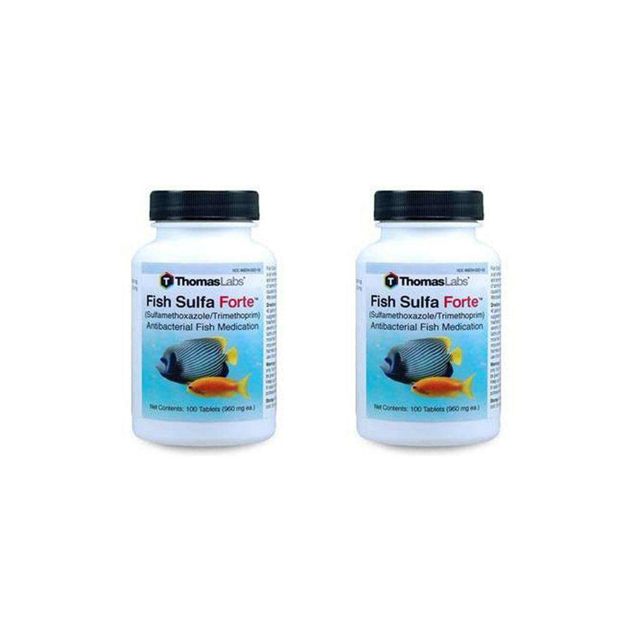 Fish Sulfa Forte - Sulfamethoxazole 800 mg, Trimethoprim 160 mg Tablets (100 Count) - 2 Pack